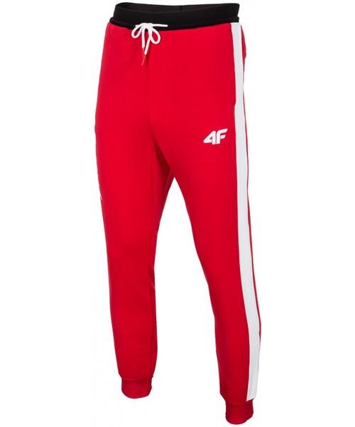 7c95e7bd3 Spodnie męskie 4F [S4Z16-SPMD400] Spodnie dresowe męskie PZN SPMD400 -  czerwony wiśniowy